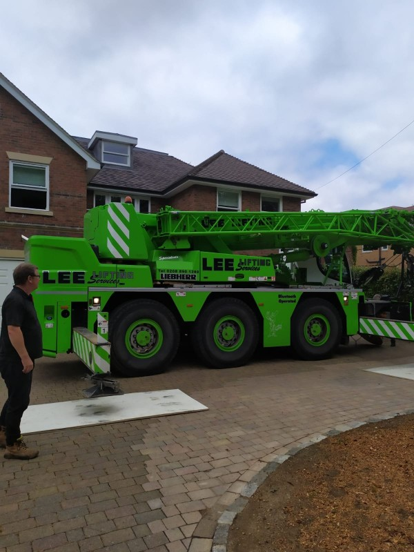 Hot Tub Relocation – With A Massive Crane