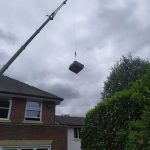 Hot Tub Relocation - With A Massive Crane