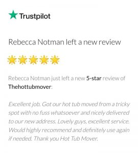 The Hot Tub Mover - 5 Star Review from A Customer