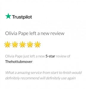 5 Star Trustpilot Review- The Hot Tub Mover