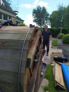 Hot Tub Transport - Wooden Hot Tub - West Yorkshire to Staffordshire