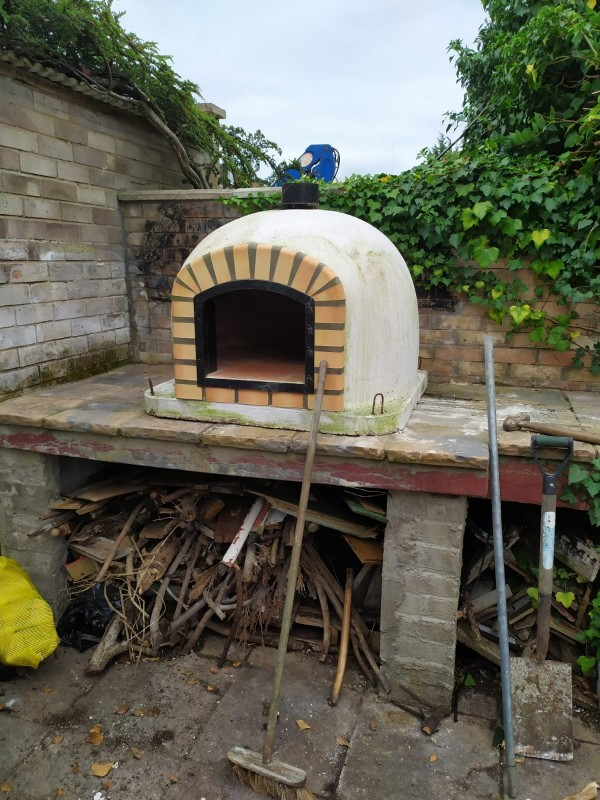 Pizza Oven in place – The Hot Tub Mover